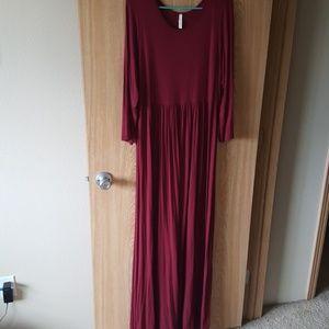 3xl Mod Cloth Wine Red Summer Dress